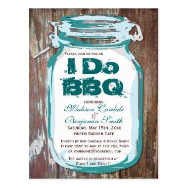 Rustic Country Mason Jar I Do BBQ Post
