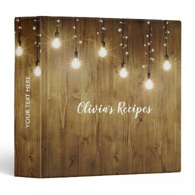 Rustic Country Recipe Binder Book