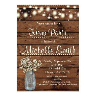 Rustic Country Vintage Wood Hens Party