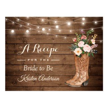Rustic Cowgirl Boots Flowers  Recipe Post