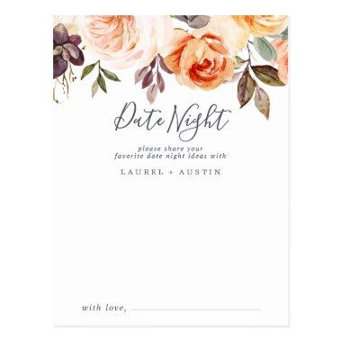Rustic Earth Florals Date Night Idea Invitations