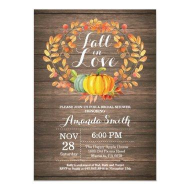 Rustic Fall Bridal Shower Invitation Invitations