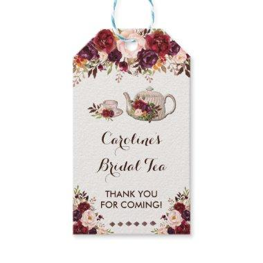Rustic Floral Bridal Tea Shower ChicFavor Tag