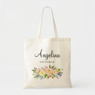 Rustic Floral Bridesmaid Personalized-07 Tote Bag