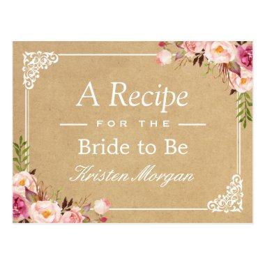 Rustic Floral Frame Kraft  Recipe Post