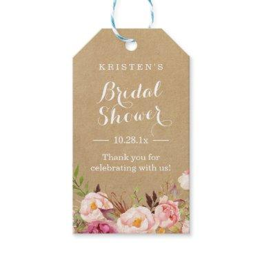 Rustic Floral Kraft |  Thank You Gift Tags