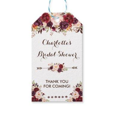 Rustic Flower  Shabby Chic Favor Tag