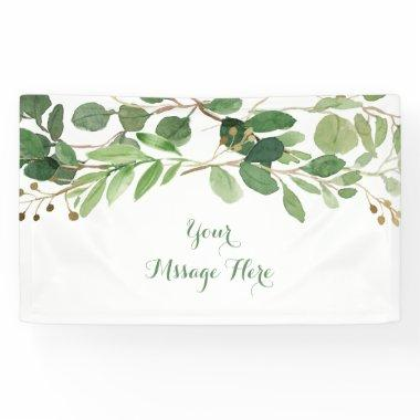 Rustic Green Floral  Banner