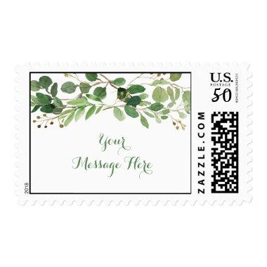 Rustic Green Floral  Postage