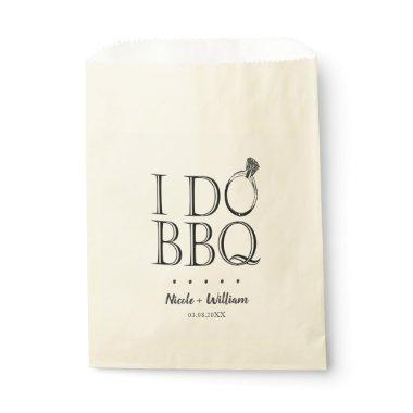 Rustic I Do BBQ Wedding Engagement Utensil Holder Favor Bag