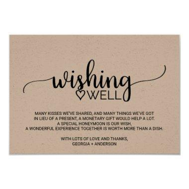 Rustic Kraft Calligraphy Wedding Wishing Well