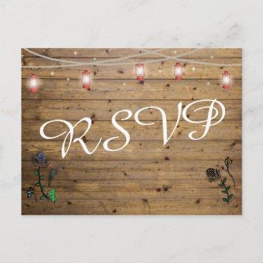 Rustic Lantern Lights RSVP Post