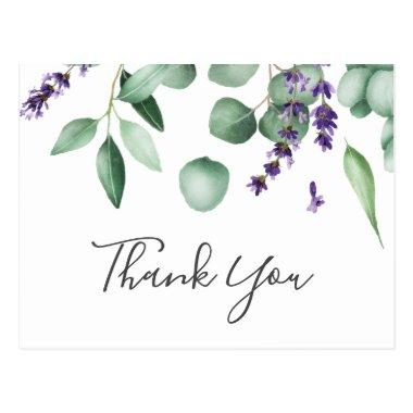 Rustic Lavender and Eucalyptus Thank You PostInvitations