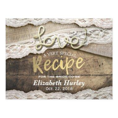Rustic Love Rope Burlap Lace  Recipe Post