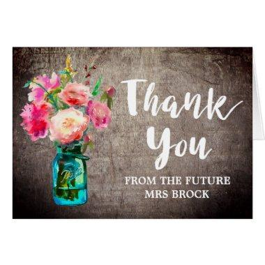 Rustic Mason Jar Thank You From the Future Mrs