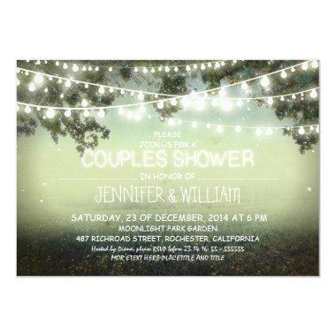 rustic night lights couples shower