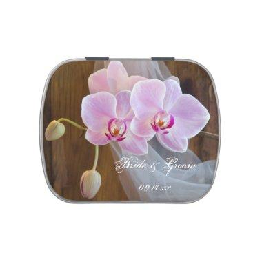 Rustic Orchid Elegance Country Barn Wedding Favor Candy Tin