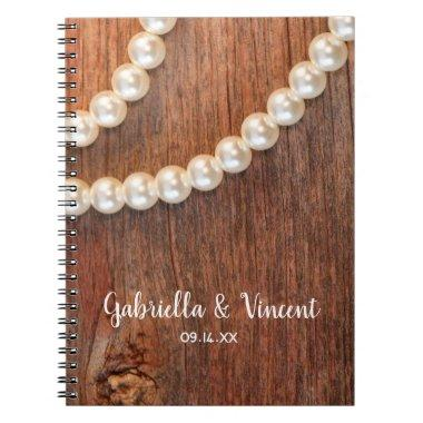 Rustic Pearls Barn Wood Country Wedding Guest Book