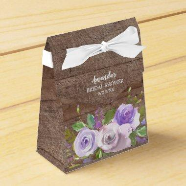 Rustic Purple Flowers  Favor Box