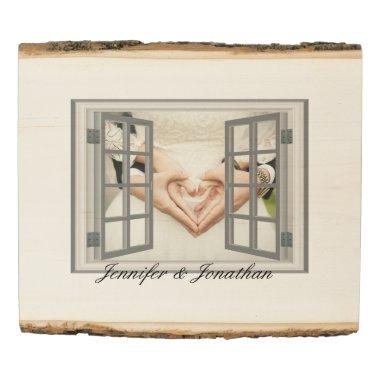 Rustic Specialized Faux Window Frame White Wood Panel