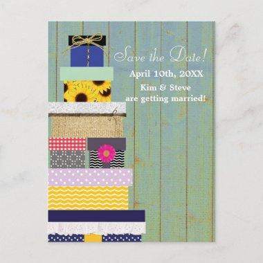 Rustic Stackable Gifts Country Save Date Post