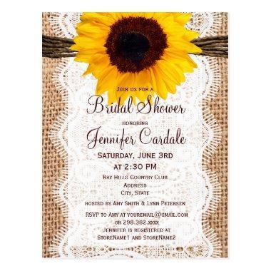 Rustic Sunflower  Invitation Post