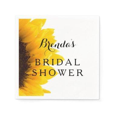 Rustic Sunflower | Bridal Shower Paper Napkins