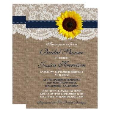 Rustic Sunflower, Burlap & Lace