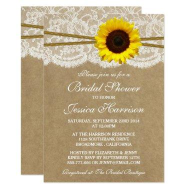 Rustic Sunflower Kraft Lace & Twine