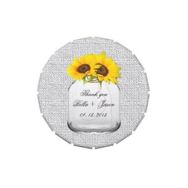 Rustic sunflower wedding favors sunflwr8 jelly belly tin
