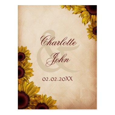 Rustic Sunflower Wedding PostInvitations