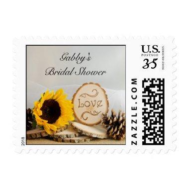Rustic Sunflower Woodland  Postage