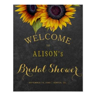 Rustic sunflowers  welcome sign