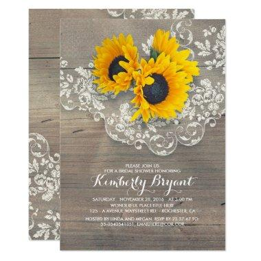 Rustic Sunflowers Wood Lace