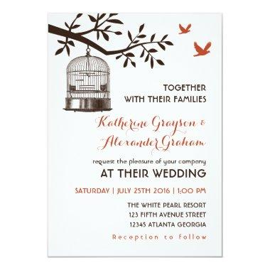 Rustic Vintage Bird Cage White Wedding