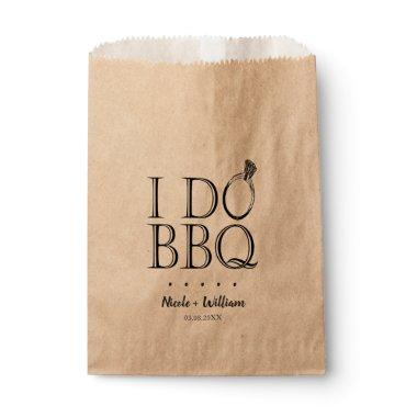 Rustic Vintage I Do BBQ Wedding Utensil Holder Favor Bag
