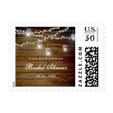 Rustic Wood Mason Jar  Stamp