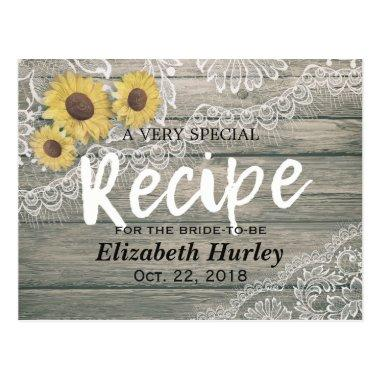 Rustic Wood Sunflowers Lace  Recipe Post