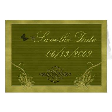 Sage green Save the Date