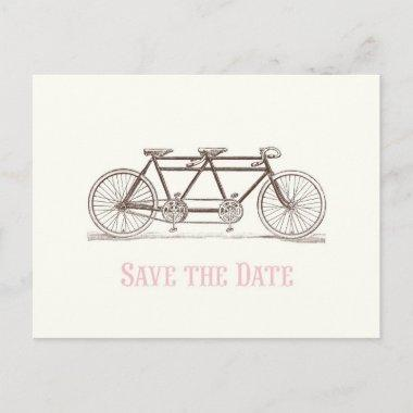 Save the Date Bicycle Built For Two Announcement PostInvitations