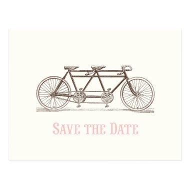 Save the Date Bicycle Built For Two Post