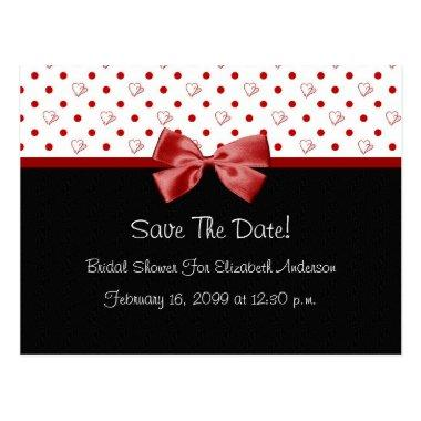 Save The Date  Girly Red Hearts Post