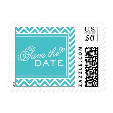 Save The Date Chevron by My Wedding Postage