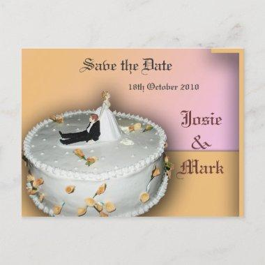 Save the Date wedding cake post