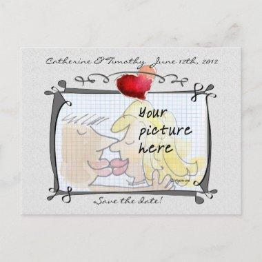 Save the Date Wedding Custom Photo Post