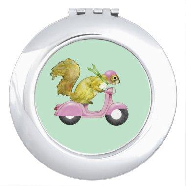 Scooter Squirrel Compact Mirror
