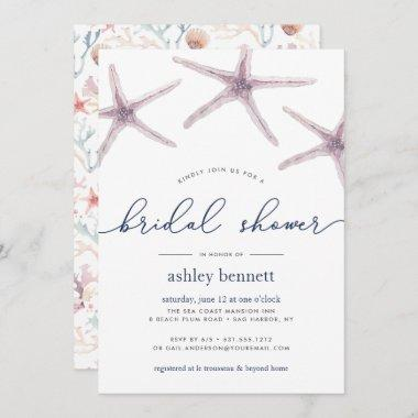 Sea Star Bridal Shower Invitations