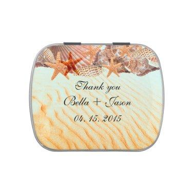 Seashell beach wedding favors seashell5 candy tin