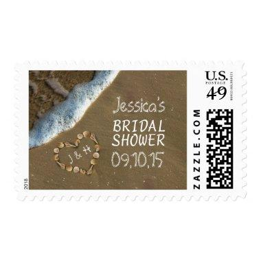 Seashell Heart Beach  Postage