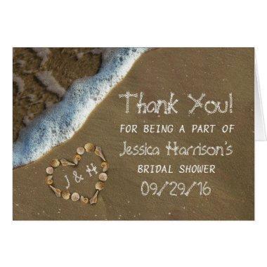 Seashell Heart Beach  Thank You